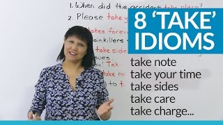 Download Do you know these 8 idioms with 'TAKE'? Video