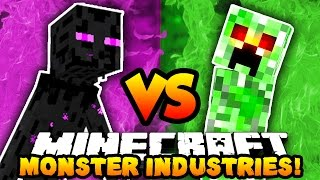 Download Minecraft 3v3 MONSTERS INDUSTRIES WAR! (Buy Upgrades, Kill Players & Win!) with The Pack! Video