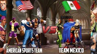 Download [Mugen - KOF HD] American Sports Team vs. Team Mexico Video