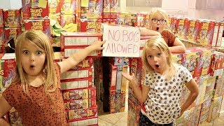 Download CEREAL BOX FORT! No Boys Allowed Video
