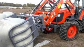 Download Ciągniki Kubota m108s + TUR 220 Ładowacz czołowy Bele wysłodki po ~1250kg Video