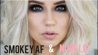Download Smokey AF Eyes & Nude Lip   Quickie Tutorial Video