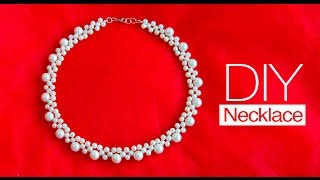 Download How to make pearl bridal necklace | DIY | jewelry making Video