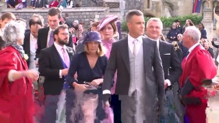Download Celebs and royals arrive at Princess Eugenie and Jack's wedding Video