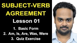 Download SUBJECT-VERB AGREEMENT - Lesson 1: Basic Rules + Am, Is, Are, Was, Were + Quiz (17 Sentences) Video