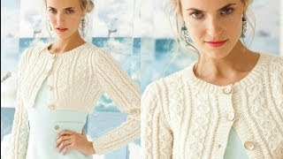 Download #1 Cropped Cable Cardi, Vogue Knitting Early Fall 2013 Video