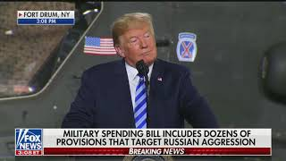 Download Trump attacks media during speech to the troops Video