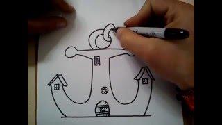 Download COMO DIBUJAR LA CASA DE DON CANGREJO / HOW TO DRAW THE HOUSE Mr. Krabs Video