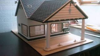 Download Building a Scale model house Old Gas Station in 1/18 scale - Alte Tankstelle im Masstab 1/18 Video