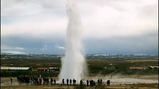 Download Geysir Hot Springs in Iceland Video