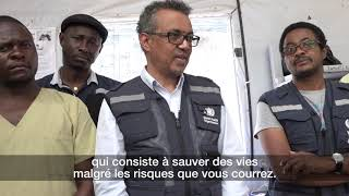 Download Dr Tedros, WHO Director-General, thanks Ebola response health workers for bravery and dedication Video
