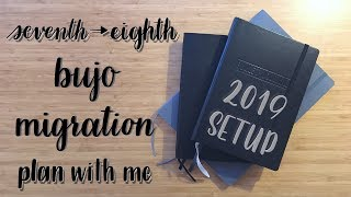 Download Plan With Me | Migration Process | 2019 Setup | Seventh into Eighth Bullet Journal Video