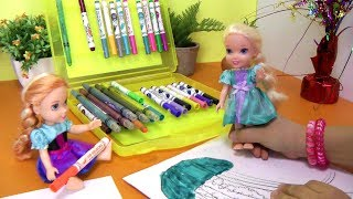 Download Coloring ! ELSA & ANNA toddlers have fun Video