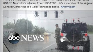 Download Photo of soldier who saluted funeral procession goes viral Video