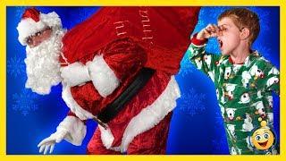 Download SANTA CLAUS CHRISTMAS STORY! Santa Brings Presents & Toys, LB Pranks Aaron Fun Holiday Toy Kid Video Video
