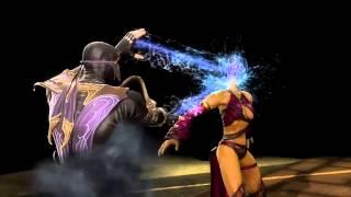 Download Mortal Kombat 9 Komplete Edition (PC)-Rain's Bubble Burst Fatality to ALL GIRLS + DLC COSTUMES Video
