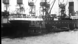 Download Thames River, 1920's. Archive film 19750 Video