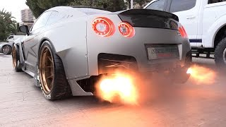 Download 1750HP Nissan GT-R FROM HELL!! Start, Revs & FLAMES! Video