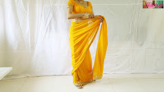Download Designer Saree Blouse Draping:Beautiful Wedding Sari Choli Stylist Drape Video