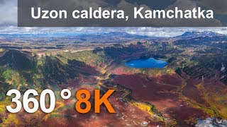 Download 360°, Uzon caldera, Kamchatka, Russia. Part I. 8K aerial video Video