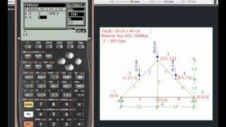 Download Tutorial LARCH - HP 50g - Análises de Estruturas/Teoria das Estruturas Video