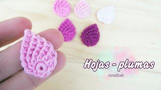Download Hoja o pluma a crochet (muy fácil!!) Video