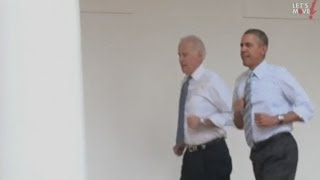 Download Barack Obama and Joe Biden run round the White House Video