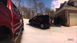 Download 4WD vs 2WD in the snow with Toyota 4Runner Video