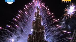 Download جودة عالية فيديو احتفالات ليلة راس السنة 2014 في دبي برج خليفة Video