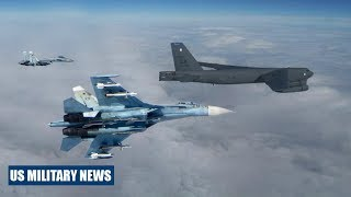 Download Two Russian Fighter Jet Intercepts US B-52H Bomber Over Baltic Video