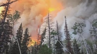 Download Wind-fueled wildfires lead to evacuations in Utah Video