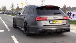 Download 705HP Audi RS6+ ABT - Acceleration SOUNDS & Drag Racing! Video