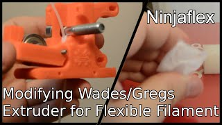 Download Ninjaflex! Printing flexible filament with Gregs/Wades extruder! Video