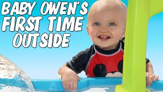 Download Owen's First Time in the Backyard Waterpark Video