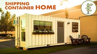 Download Minimalist 20ft Shipping Container Tiny House for $39K - Full Tour Video