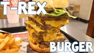 Download T-Rex Burger From Wendy's Devoured (3,360 Calories) | Furious Pete Video