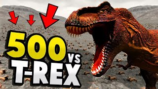 Download 500 ANIMALS vs GIANT T-REX! - Beast Battle Simulator Gameplay Video