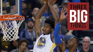 Download 3 Big Things: Curry, Warriors big men overcome sluggish opening game Video
