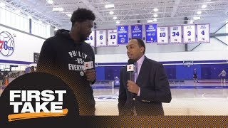Download Joel Embiid joins Stephen A. Smith for exclusive 76ers' interview | First Take | ESPN Video