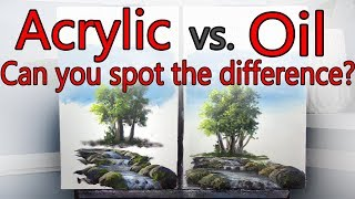 Download Acrylic VS Oil Side by Side EXPERIMENT Video