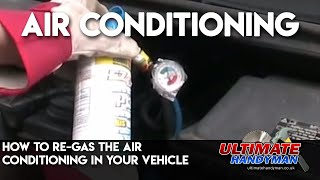 Download How to re-gas the air conditioning in your vehicle Video