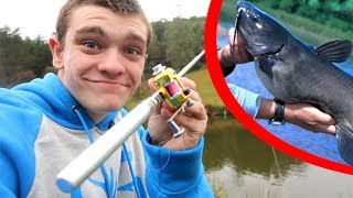 Download Mini Pen Fishing Rod Catfishing Challenge! Video