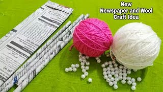 Download Superb Craft Idea Out Of Waste Newspaper and Wool | Perfect Reuse Of Waste Video