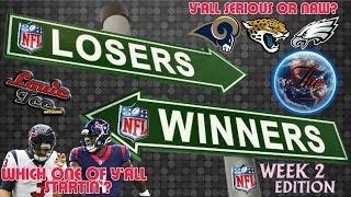 Download WINNERS & LOSERS Ep.17.2 | Week 2 NFL Picks LIVE! #LouieTeeLive Video