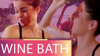 Download Taking a Bath in WINE?! (Beauty Trippin) Video