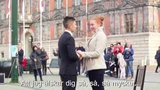 Download Alexander Hermansson friar till sin Caroline - Grease Musikal Flashmob Video