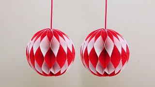 Download Hiasan 17 Agustus Dari Kertas - Dekorasi Hari Kemerdekaan RI - lampion Honeycomb Merah Putih Video