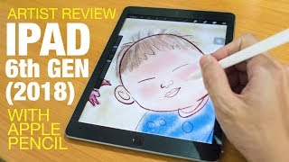 Download Artist Review: iPad 6 Gen (2018) with Apple Pencil Video