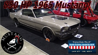 Download 850 HP 1965 Mustang Fastback Custom Grand National Roadster Show 2017 Brown's Classic Autos Video