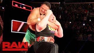 Download Samoa Joe traps Brock Lesnar in the Coquina Clutch: Raw, June 26, 2017 Video